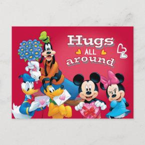 Mickey and Friends Hugs All Around Holiday Post