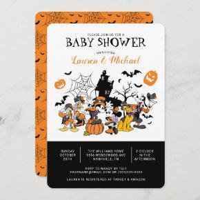 Mickey & Friends Halloween Baby Shower Invitation