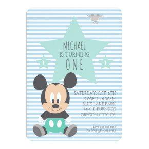 Mickey Mouse | First Birthday Invitations