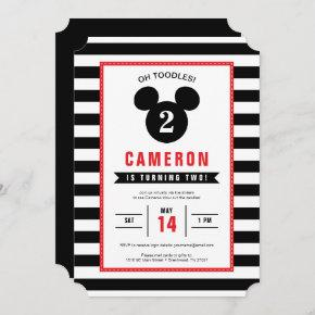 Mickey Mouse | Icon Black & White Virtual Birthday Invitation