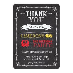 Mickey Mouse Icon Chalkboard | Thank You Card