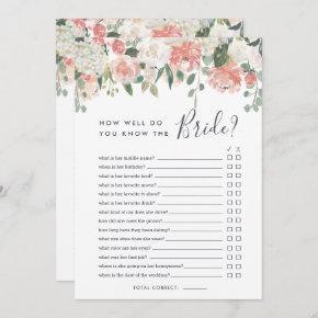 Midsummer Floral Double-Sided Bridal Shower Game Invitation