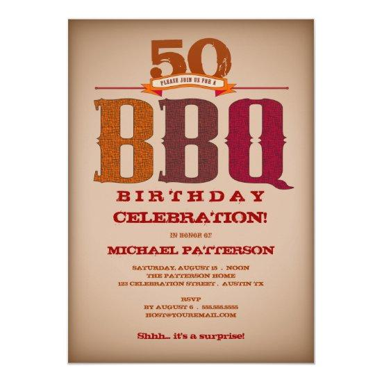 Milestone Birthday BBQ Celebration Invitations