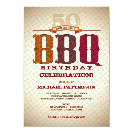 Milestone Birthday BBQ Celebration Invitations