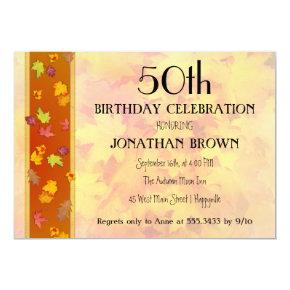 Milestone Fall Birthday Party Celebration Invitation
