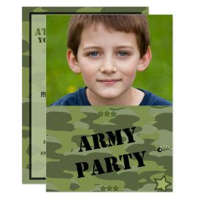 Military Army Soldier Photo Invitation