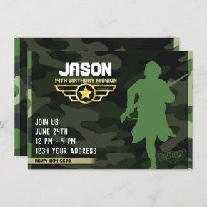 Military Style Party Invitation