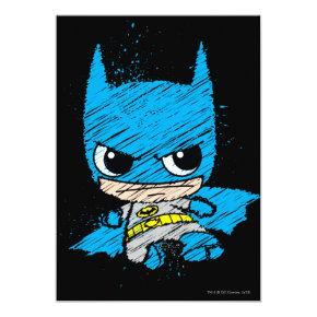 Mini Batman Sketch Invitations