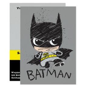Mini Classic Batman Sketch Invitations