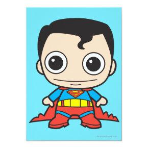 Mini Superman Invitation