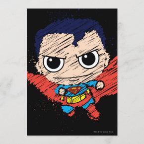 Mini Superman Sketch Invitation