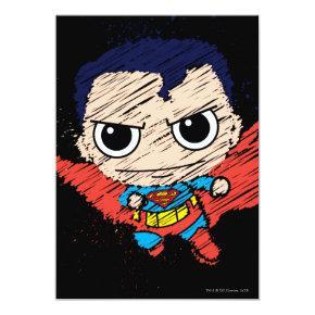 Mini Superman Sketch Invitations
