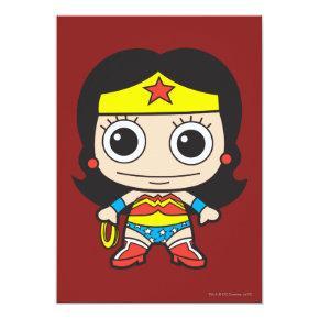 Mini Wonder Woman Invitation