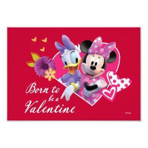 Minnie and Daisy Valentine Invitation