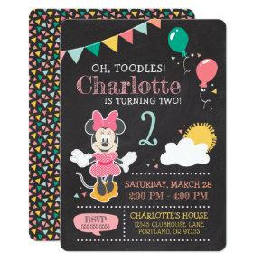 Minnie Mouse Birthday Chalkboard Card