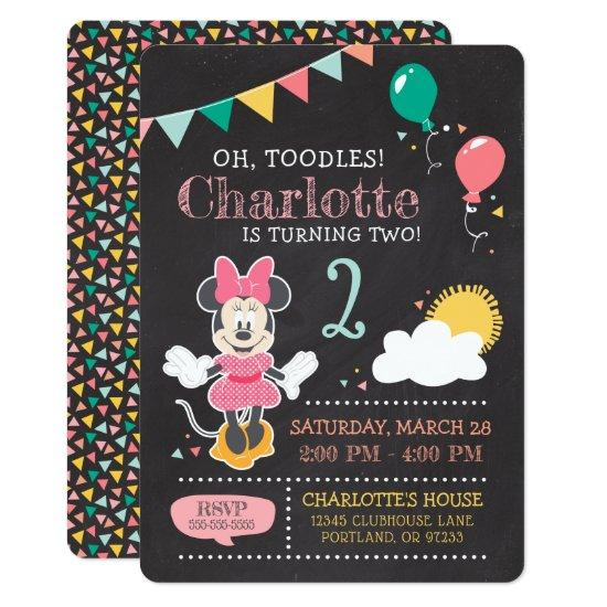 Minnie Mouse Birthday Chalkboard