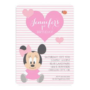 Minnie Mouse | First Birthday Card