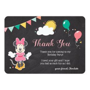 Minnie Mouse Icon Chalkboard   Thank You Card
