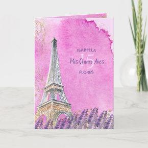 Mis Quince Anos Eiffel Tower Paris Queanceanera Invitation