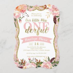 Miss ONEderful Birthday Party Invitation