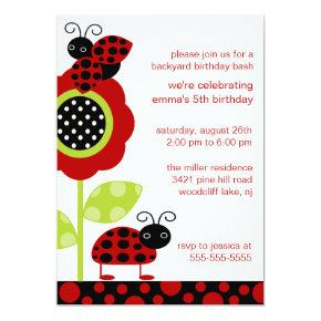 Mod Baby Bugs Birthday Invitation