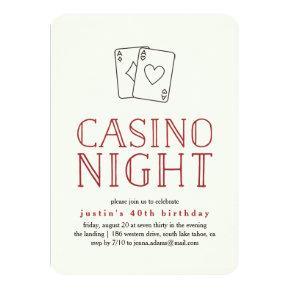 Modern Casino Night Party Invitation