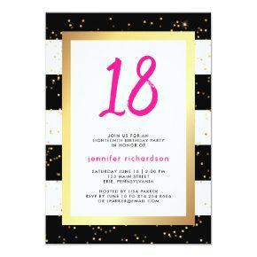 Modern Confetti | 18th Birthday Party Invitations