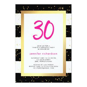 Modern Confetti | 30th Birthday Party Invitations