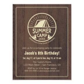 Modern Summer Camping Birthday Party