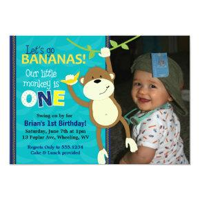 Monkey Bananas First Birthday Photo