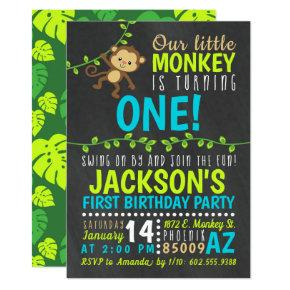 Monkey birthday invitations candied clouds monkey birthday invitation filmwisefo