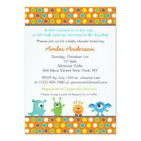 Monster Baby Shower Invitations