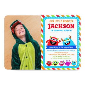 Monster Bash Birthday Party Invitation