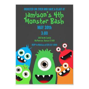 Monster Bash Kids Birthday Party