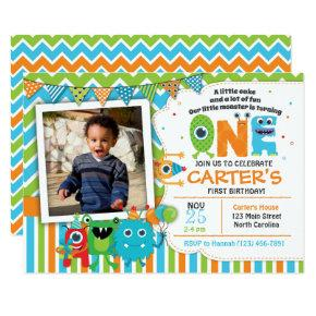 Monster First Birthday Invitations