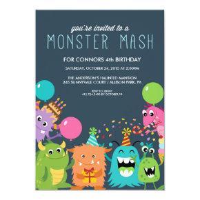 MONSTER MASH KIDS BIRTHDAY PARTY INVITATION invite