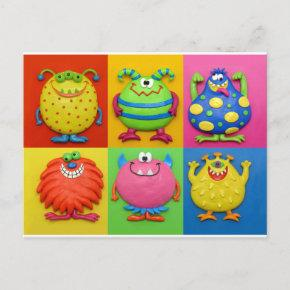 Monster Party Invitation Post