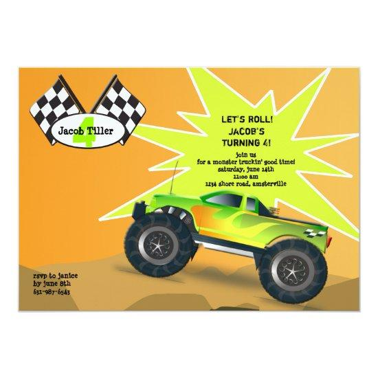monster truck invitations candied clouds