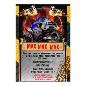 Monster Truck Invitations