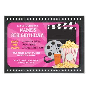 Movie Night Film Cinema Birthday Party View Invite
