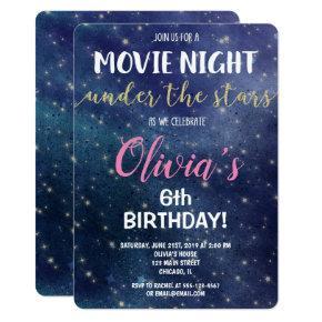 Movie night under the stars birthday