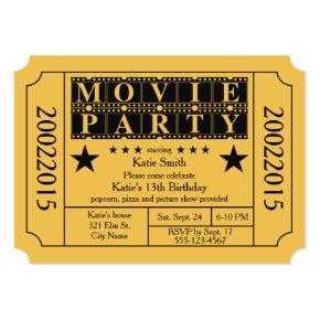 Movie Party Invitations