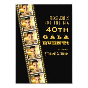 Movie Premiere Celebrity 40th Birthday Photo Gala Invitation