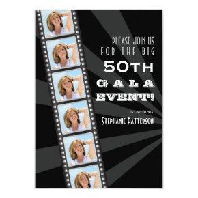 Movie Premiere Celebrity 50th Birthday Photo Gala Invitation
