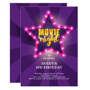 Movie Star Birthday Invitation