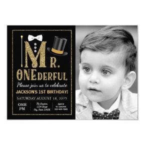 Mr ONEderful 1st Birthday Invitation