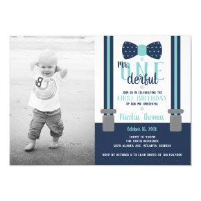 Mr. ONEderful Birthday Party Invitation