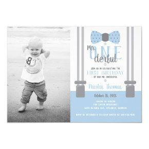 Mr. ONEderful Birthday Party Invitations