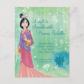 Mulan Birthday Invitation