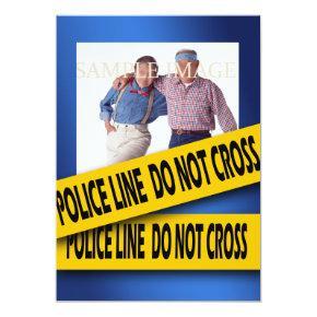 Murder mystery blue birthday card